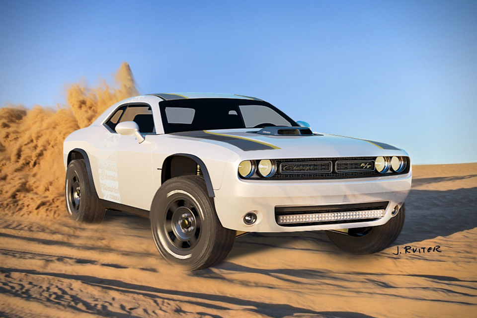 Dodge Challenger 2014 >> 2015 Off-Road Dodge Challenger A/T | HiConsumption