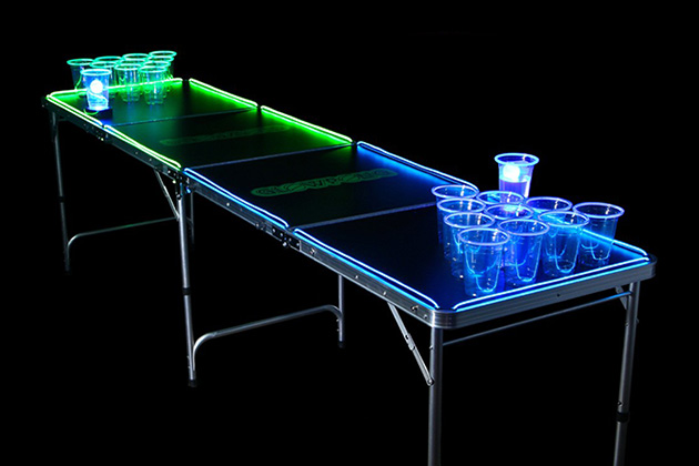 GlowPong Glow In The Dark Beer Pong 2