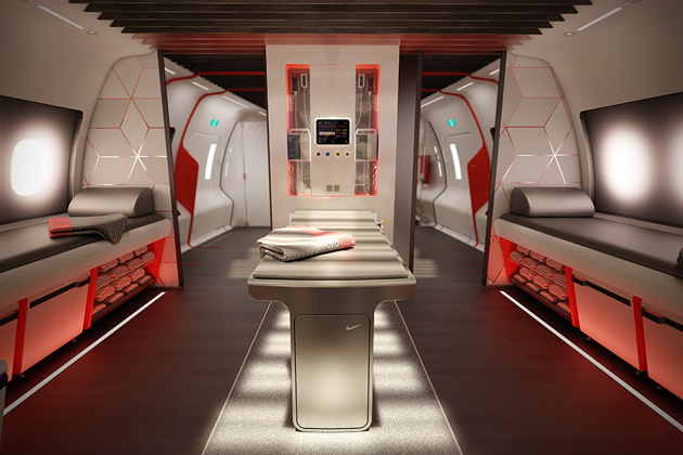 Nike Concept Plane Cabin For Pro Athletes 2