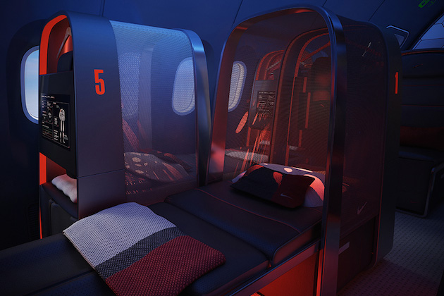 Nike Concept Plane Cabin For Pro Athletes 4