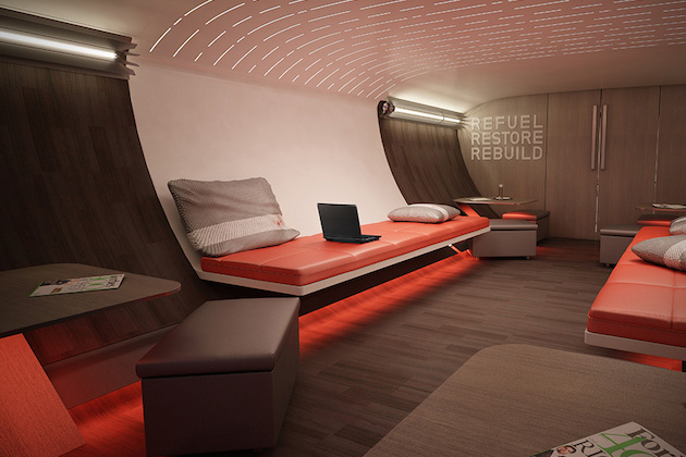 Nike Concept Plane Cabin For Pro Athletes 6