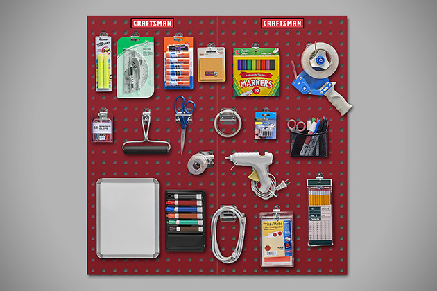 Craftsman Heavy-Duty Locking Pegboard System 3