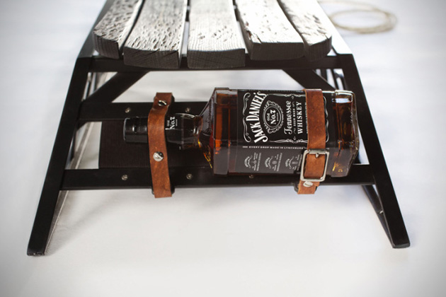 Jack Daniels Whiskey Barrel Sled 3
