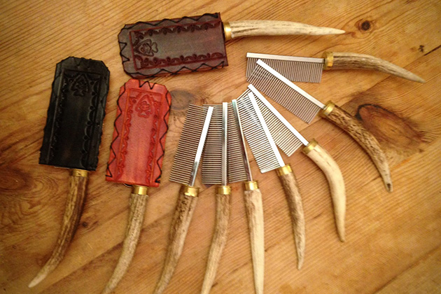Fatbob Crafts Antler Beard and Mustache Comb