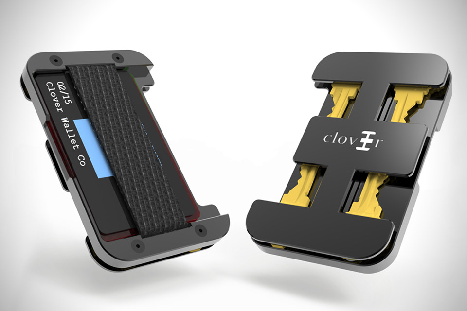 Clover Card Key Slim Wallet Hiconsumption