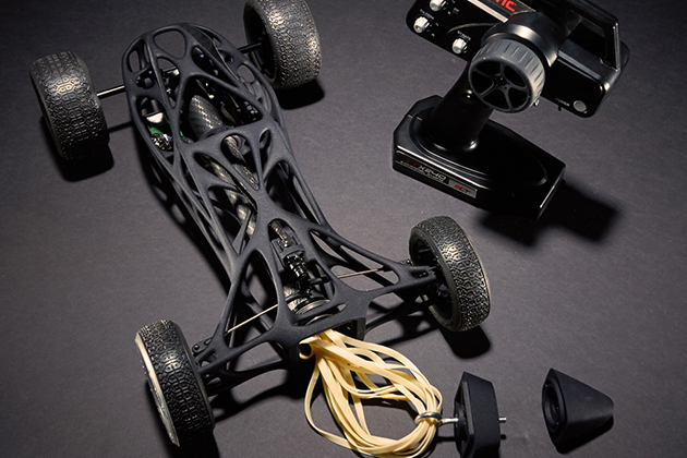 Rubber Band-Powered Remote Control Car 4