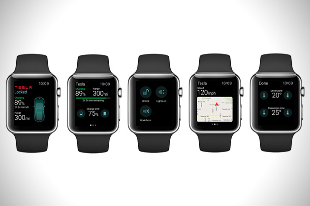 Tesla Apple Watch App 2