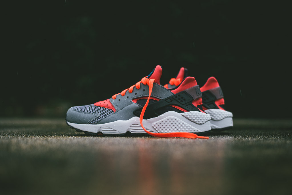 new styles 5a525 953db Nike Air Huarache Cool GreyBright Crimson  HiConsumption
