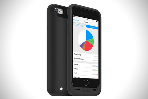 Mophie Space Pack iPhone 6 Storage Battery Case 1