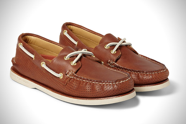 Sperry Top Sider Gold Cup Perforated Leather