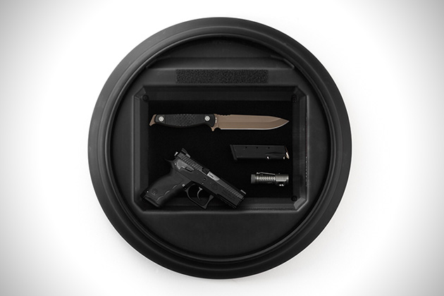 Tactical Wall Clock Hidden Gun Storage 2