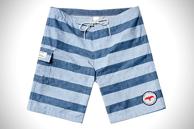 Apolis Chambray Swim Trunks