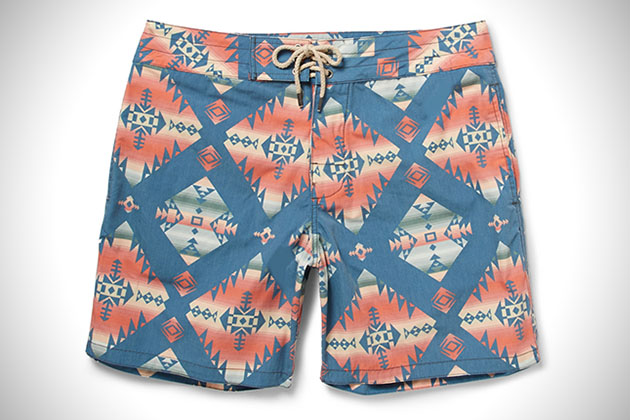 Faherty Brand Printed Swim Shorts