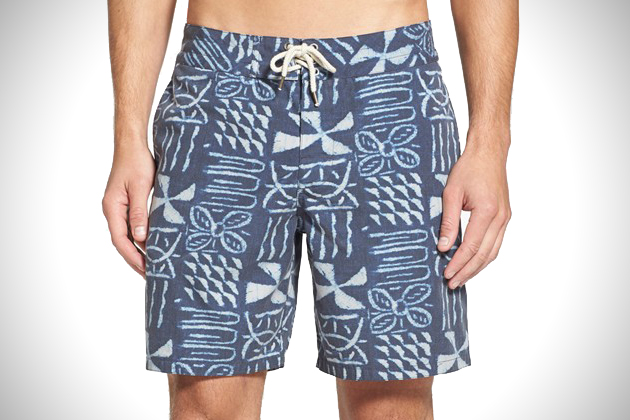 Faherty Brand Recycled Fabric Board Shorts