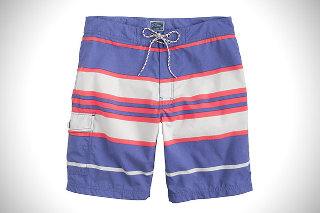 J Crew Oxford Blue Striped Board Shorts