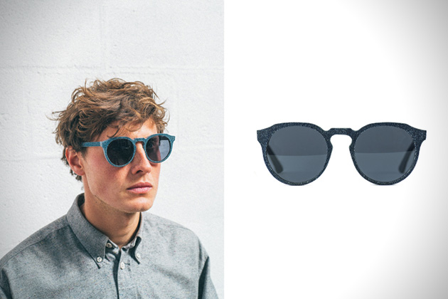Solid Denim Sunglasses by Mosevic 2