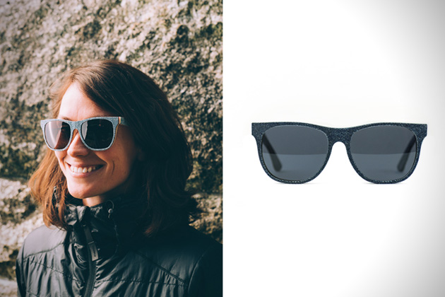 Solid Denim Sunglasses by Mosevic 3