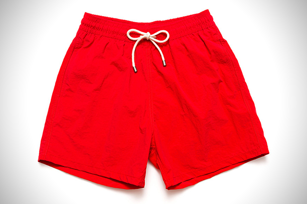 Solid and Striped Lifeguard Red Classic Shorts