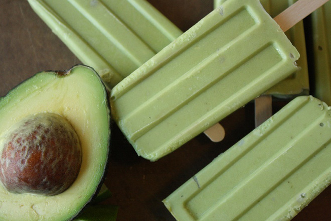 Avocado Lime Tequila Popsicles