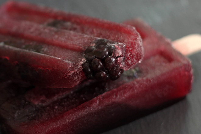 Pomegranate Merlot Popsicles