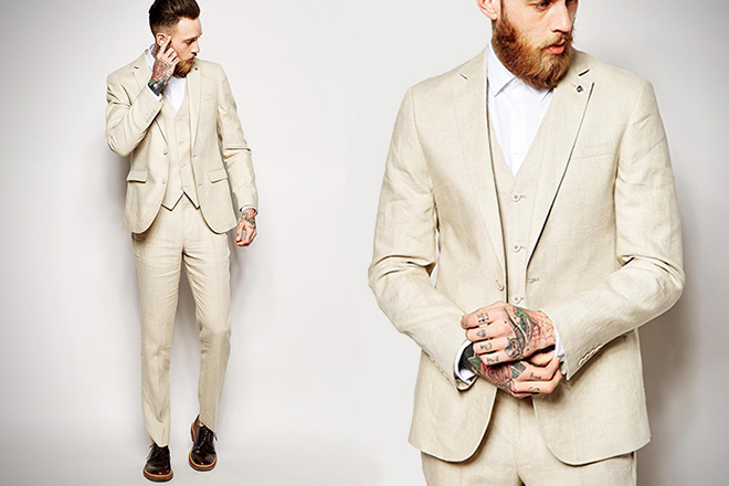 ASOS Slim Fit Linen Suit