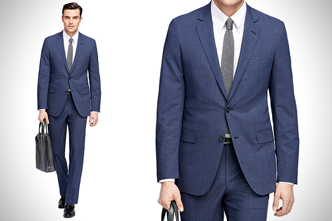 Brooks Brothers Fitzgerald Check Suit