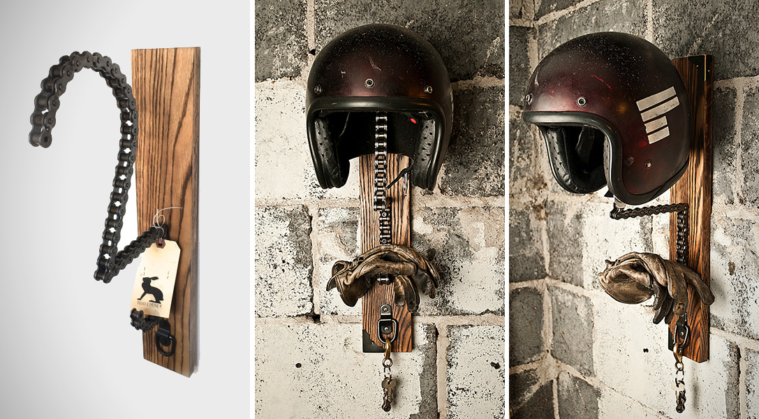 Solo Motorcycle Helmet Rack By Threepence Hiconsumption
