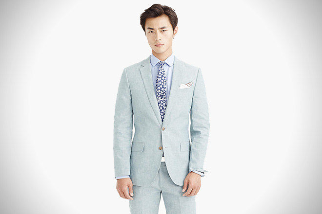 J. Crew Japanese Chambray Ludlow Suit
