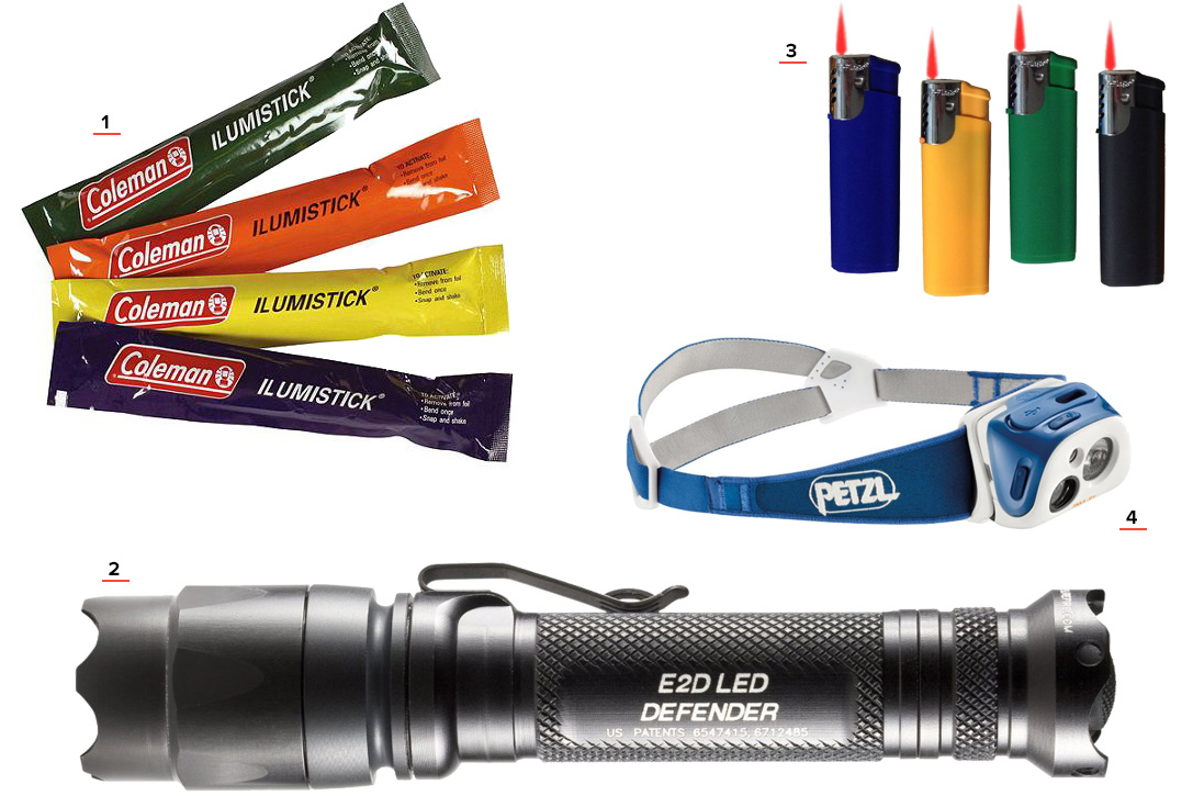 Light Sources Bug Out Bag