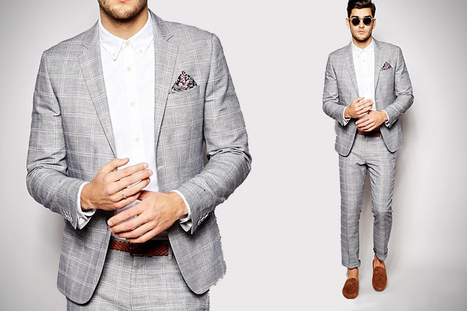 River Island Checked Suit