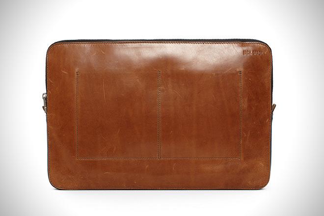 Jack Spade Mitchell Leather Laptop Sleeve