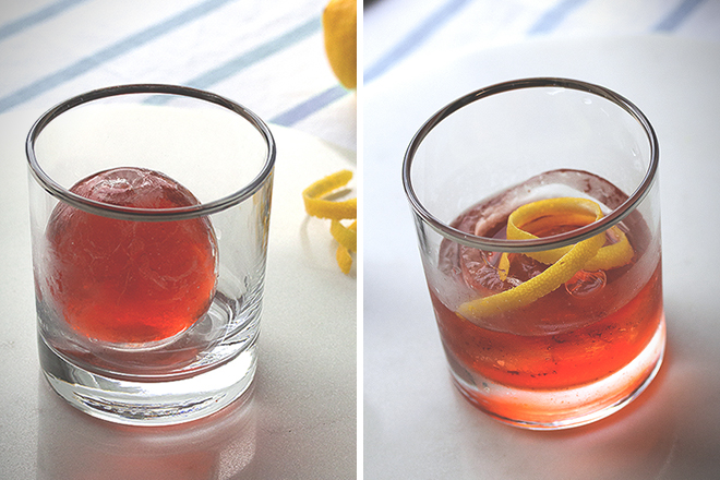 Negroni Cocktail Sphere 1