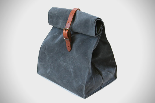 Overlap Sewing Studio Waxed Canvas Lunch Bag