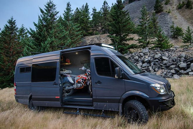 Lava Flow 4x4 Mercedes Sprinter by Outside Van | HiConsumption