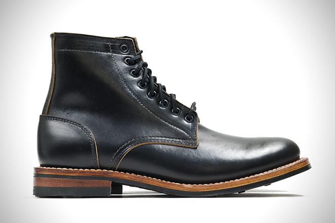 Oak Street Bootmakers Black Dainite Trench Boots