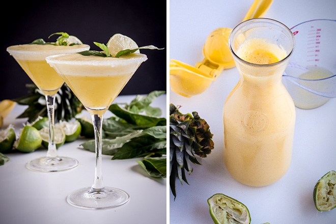 Pineapple-Basil Rum Fizz 1