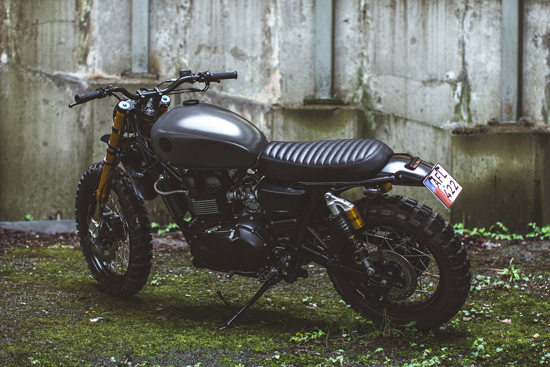 Triumph Bonneville Scrambler by 6-5-4 Motors 2