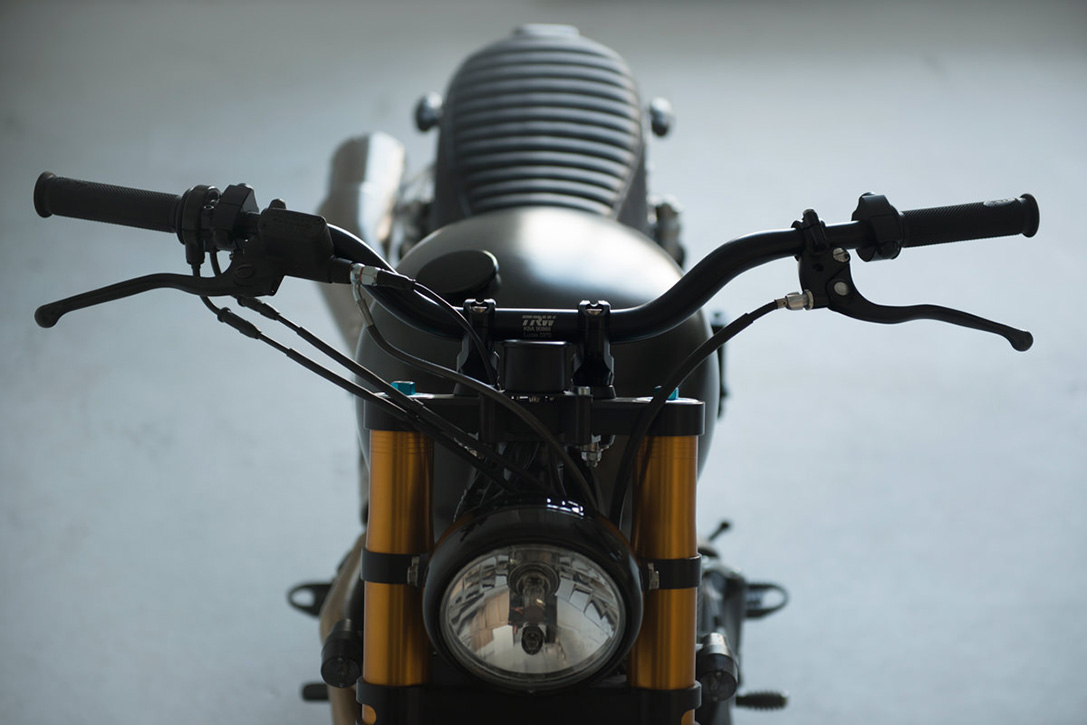 Triumph Bonneville Scrambler by 6-5-4 Motors 4
