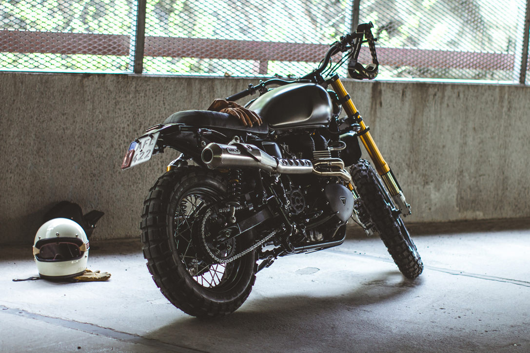 Triumph Bonneville Scrambler by 6-5-4 Motors 7