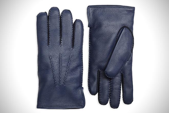 Brooks Brothers Deerskin Cashmere-Lined Gloves