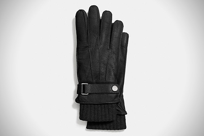 Coach 3-in-1 Leather Gloves