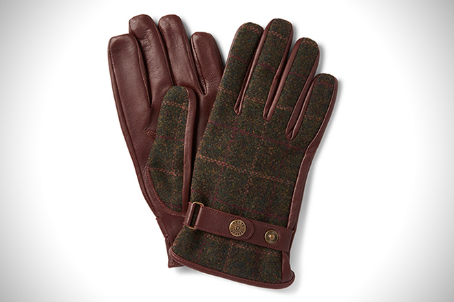 Dents Flannel and Leather Gloves