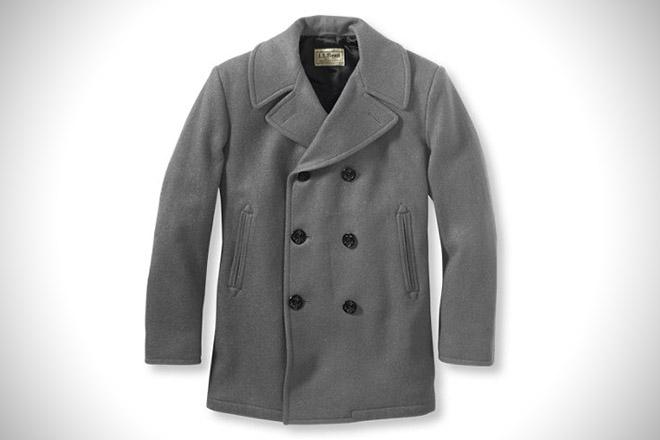 LL Bean Authentic Wool Pea Coat