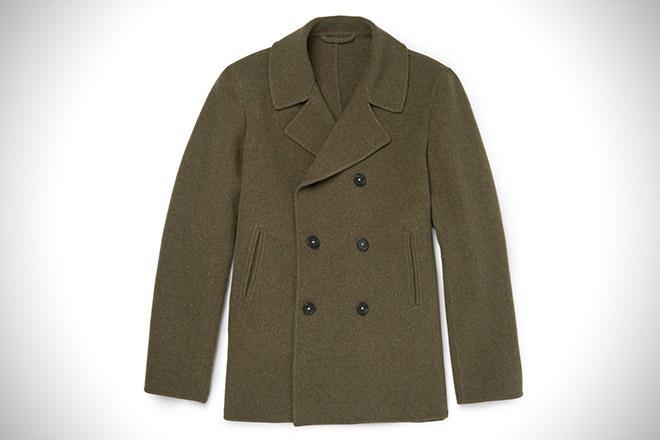 Massimo Alba Wool Pea Coat