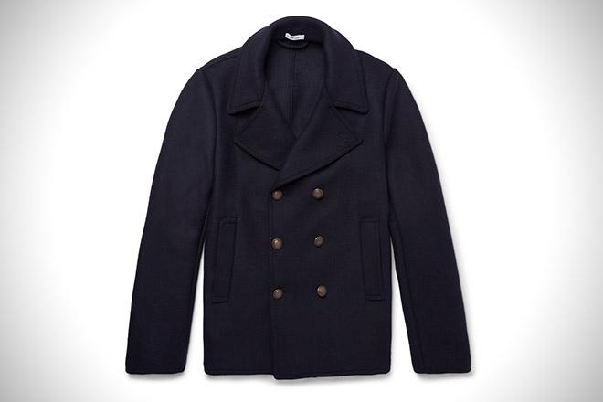 Tomas Maier Wool-Blend Pea Coat