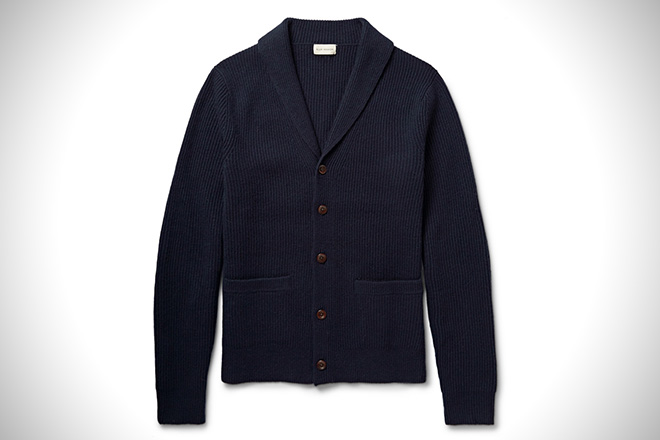 Club Monaco Shawl-Collar Merino Wool Cardigan