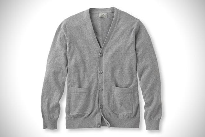 LL Bean Cotton & Cashmere Cardigan