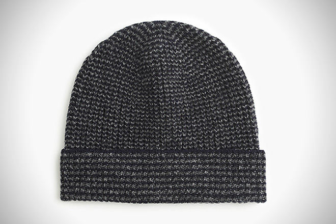 J. Crew Lambswool Marled Striped Hat