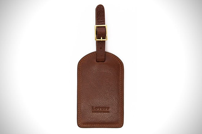 Lotuff Leather Luggage Tag