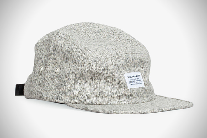 0c0057298f7 Norse Projects Melange Herringbone 5-Panel Hat